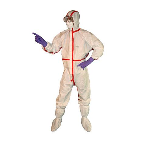 Schutzanzug Desinfektion